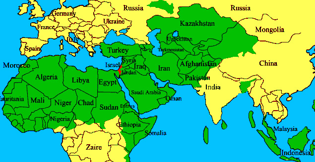 Resultado de imagen de mapa del islam hoy